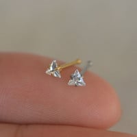 nose ring,triangle nose ring,cool nose ring stud,bestfriend gift