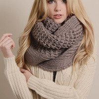 To Infinity and Beyond Scarf in Mocha