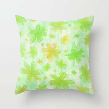 4 Seasons - Spring Throw Pillow by Alice Gosling