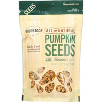 Woodstock Seeds - All Natural - Pumpkin - Pepitas - Shelled - Roasted - Salted - 9.5 oz - case of 8