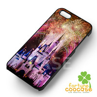 Disney Castle Fireworks on Nebula -3 for iPhone 6S case, iPhone 5s case, iPhone 6 case, iPhone 4S, Samsung S6 Edge