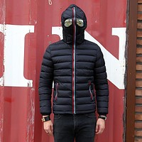 Autumn Winter Parka Men Warm Jacket Outerwear Padded Hooded Brand Couple Jackets with Glasses Lovers Windbreaker Coat Hombre