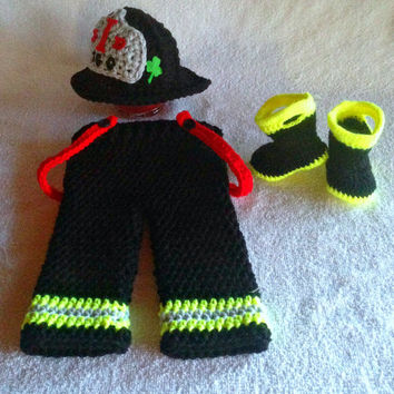 Baby Firefighter Outfit - Firefighter baby - fireman outfit - baby firefighter costume - baby firefighter - fireman costume - fireman gift