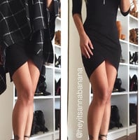 All Drape Mini Dress - Black - FINAL SALE