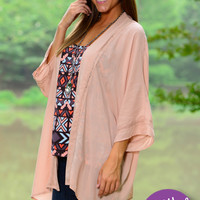 Sweet Innocence Cardigan, Peach