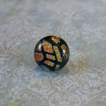 Geometric Tie Tack, Dichroic Lapel Pin, Fathers Day, Womens Jewelry, Mens Jewelry - Jonathan - 014 -3