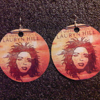 Lauryn Hill - Miseducation Earrings FREE Shipping Worldwide Free Lauren The Fugees Wyclef CD LP T Shirt Bag