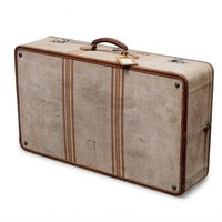 beige fabric suitcase - Furniture