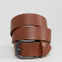 ASOS Vintage Tan Jeans Belt in Water Based PU at asos.com