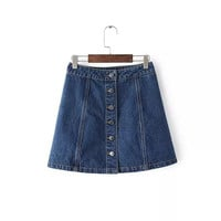 Denim Dress Summer Women's Fashion Skirt [4919984452]