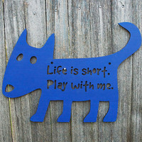 Play with Me Dog dog lover gift by spunkyfluff on Etsy