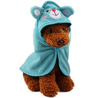 New Cartoon Ultra Absorbent  Pet Bathing Hooded Towel For Cat & Dog Pet Cleaning Accessories Pets Drying Towel Bathrobe Blanket