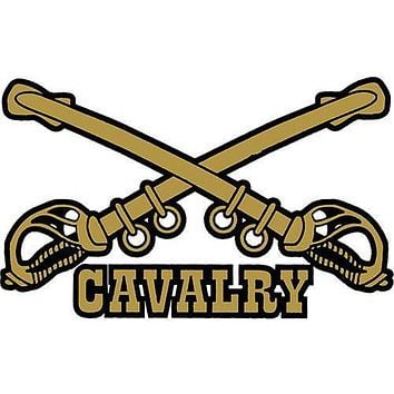 Cavalry Small Clear Decal