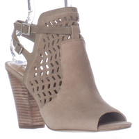 BCBGeneration Creen Cutout Peep Toe Open Heel Shooties - Smoke Taupe