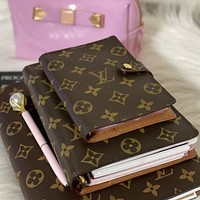 Louis Vuitton LV Hot Sale Classic Letter Printed Leather Writing Notebook Book bag-1