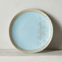 Blooming Lace Dessert Plate by Anthropologie Blue Dessert Plate Dinnerware
