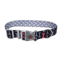 "Sublime Adjustable Dog Collar 1"" x 18"" Bones"
