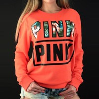 Love Pink Hoodies Women Hoodies Sweatshirts Fleece Sweatshirt Printed Moletons Femininos Floral Hoodie Poleron Cotton Z20