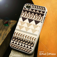 Aztec Brown iPhone 4 5 5c 6 Plus Case, Samsung Galaxy S3 S4 S5 Note 3 4 Case, iPod 4 5 Case, HtC One M7 M8 and Nexus Case