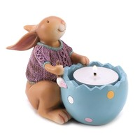 Snuggle Bunny Tealight Candle Holder