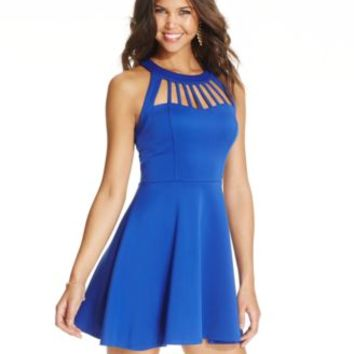 Trixxi Juniors' Flared Cutout Dress | macys.com