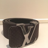 Louis Vuitton Initiales Brown Belt 40mm size 95/38