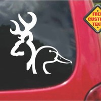 Buck Duck Deer Head Browning Sticker Decal 20 Colors To Choose From.