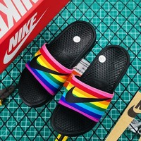 Nike Benassi Just Do It Rainbow Be True Slide - Best Online Sale