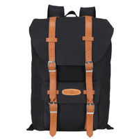 Leather College Canvas Large Backpack Very Light Travel Bag School Bookbag Gift