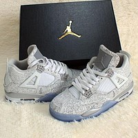 Nike AIR JORDAN 4 classic men's and women's high-top casual sports shoes basketball shoes