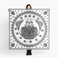 'Henna of Pugly' Scarf by Huebucket