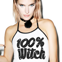 O Mighty Total Witch Halter Top Black/White