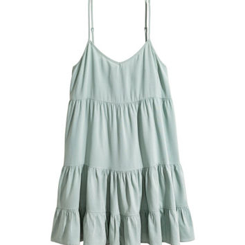 Tiered Lyocell-blend Dress - from H&M
