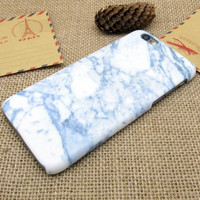 Light Blue Marble Best Protection iPhone 7 7 Plus & iPhone 6 6s Plus & iPhone 5s se Case Personal Tailor Cover + Gift Box