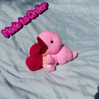 Crochet lickitung inspired doll from 90's pokemon game and cartoon series