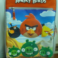 NEW ANGRY BIRDS CHILDS KIDS BOYS GIRLS ROLLING SUIT CASE LUGGAGE W HANDLE
