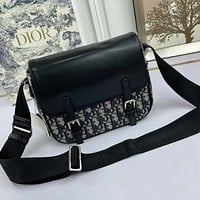 Christian Dior Women Leather Shoulder Bag Satchel Tote Bag Handbag Shopping Leather Tote Crossbody Satchel Shouder Bag