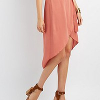 HIGH-LOW TULIP MIDI SKIRT