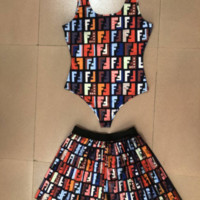 FENDI Stylish Top Bathing Suits Trending Womens Skirts Swimsuits Two Pieces F120