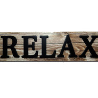 Relax Wood Wall Home Decor
