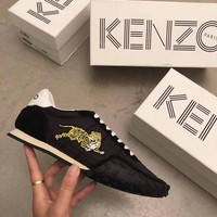 KENZO new star with the same paragraph high-end flat female shoes embroidered sports shoes wild Korean student shoes deep black