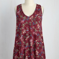 Infinite Options Top in Maroon Meadow | Mod Retro Vintage Short Sleeve Shirts | ModCloth.com