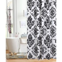 "Mainstays Classic Noir 70"" x 72"" Shower Curtain, Black - Walmart.com"