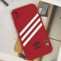 Red Striped ADIDAS Phone Case for iPhone