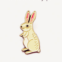 Bunny Pin - Rabbit Pin - Bunny Enamel Pin by boygirlparty