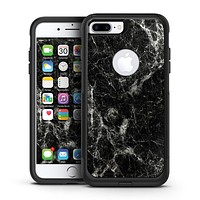 Black Scratched Marble - iPhone 7 or 7 Plus Commuter Case Skin Kit