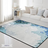 Blue Rug and Carpet for Home Living Room/Bedroom
