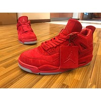 KAWS x Air Jordan 4 Red Basketball Sneaker