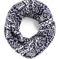 NAVY AND WHITE SNOOD - Winter Warmers  - Holiday Shop