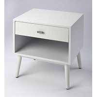 Butler Sheldon Glossy White Side Table